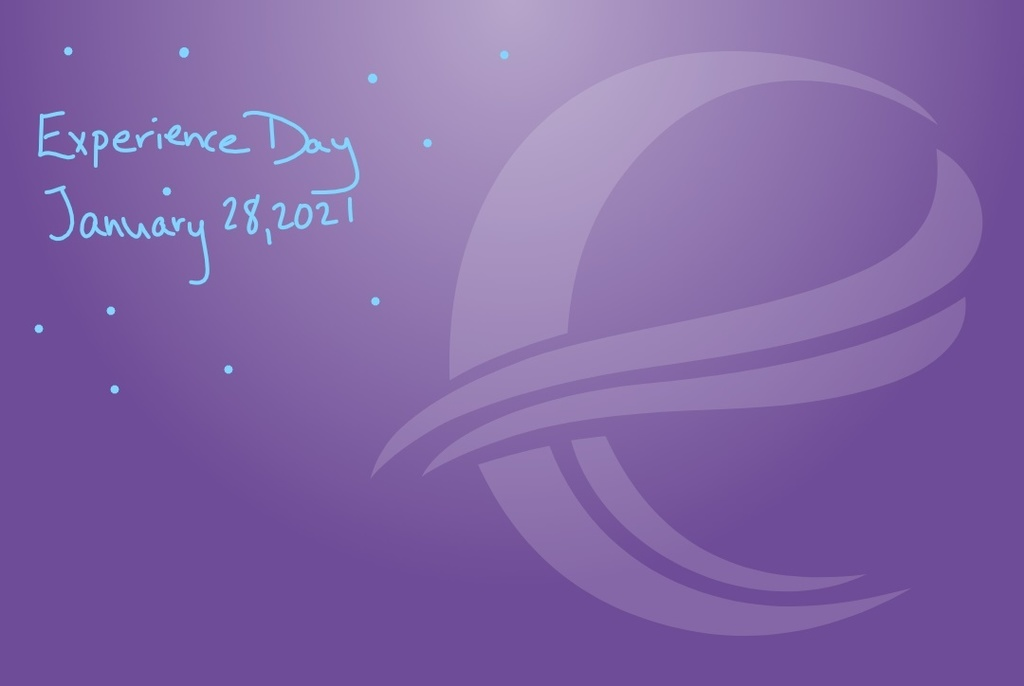 Logo with words that say: Experience Day January 28, 2021