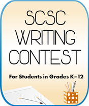 Image with text SCSC Writing Contest for students in grades k-12