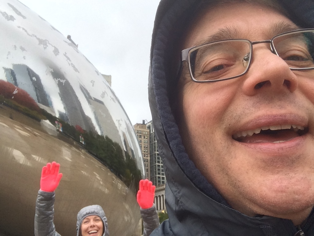 Advisors Larry and Lill at The Bean in Chicago.