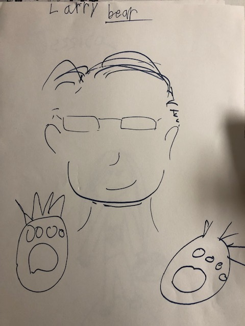 Student drawing of Larry