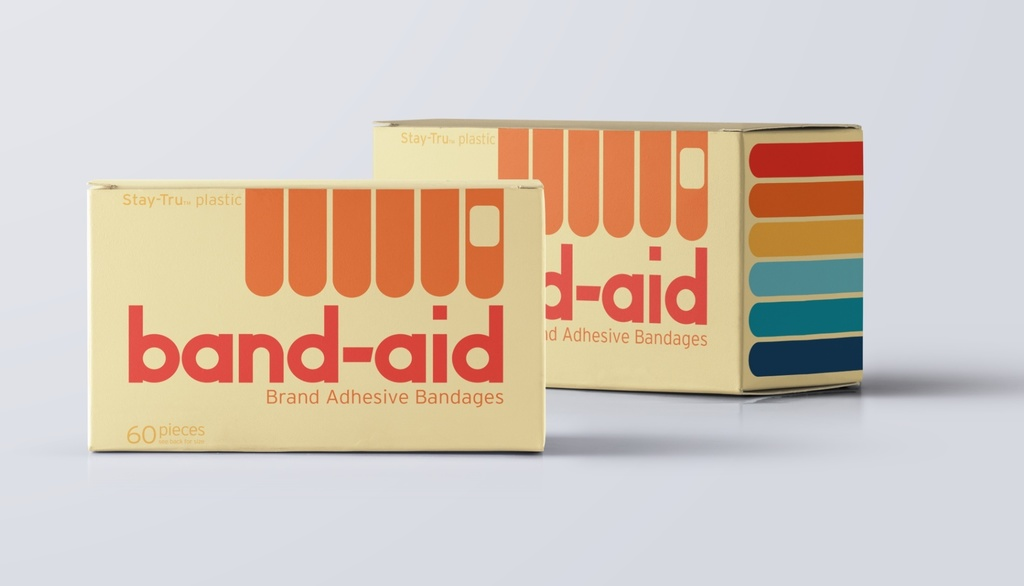 Retro design of Band-aid box