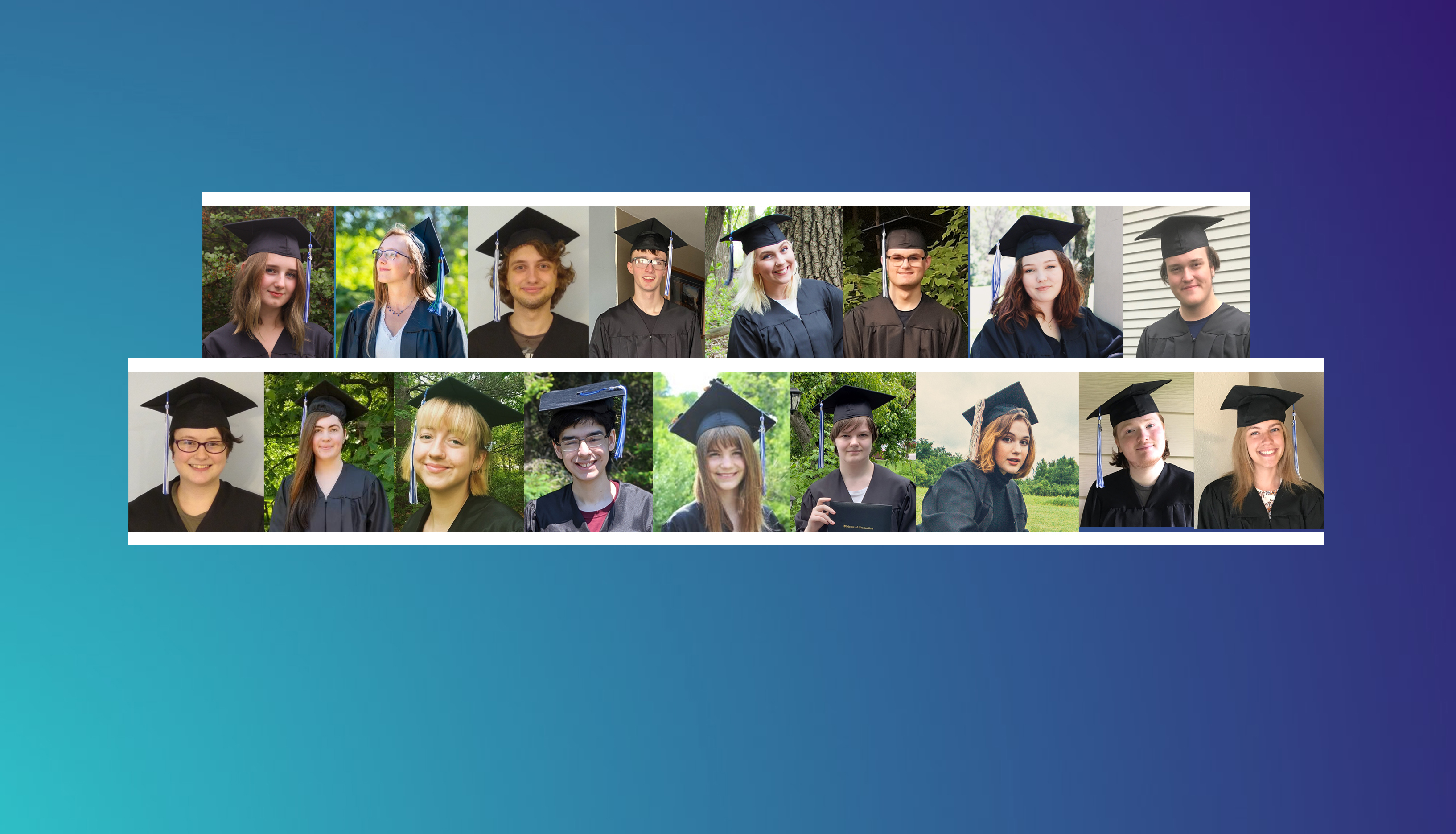 Collage of graduate photos