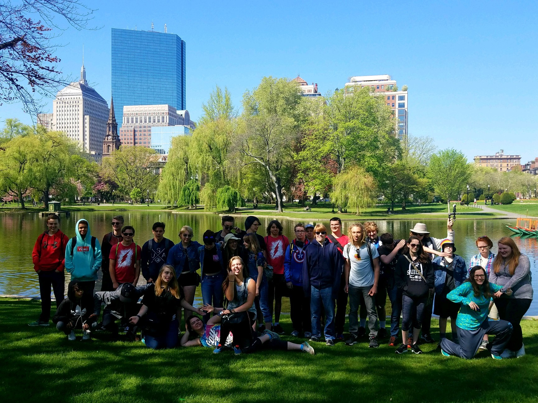 Students at Boston Gardens